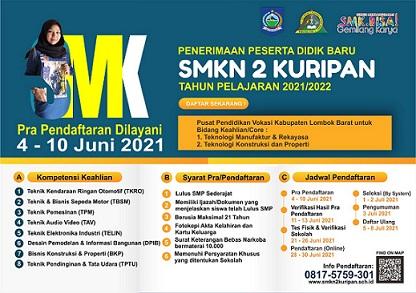 PPDB SMKN 2 KURIPAN 2021